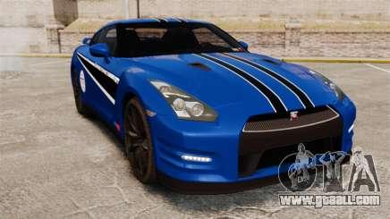 Nissan GT-R 2012 Black Edition AMS Alpha 12 for GTA 4