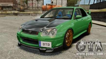 Subaru Impreza 2005 DTD Tuned for GTA 4