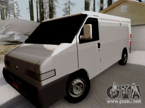 Fiat Ducato Cargo for GTA San Andreas back view
