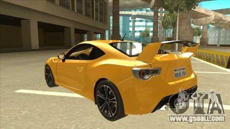 TOYOTA GT86 2JZ-GTE Black Revel for GTA San Andreas back view