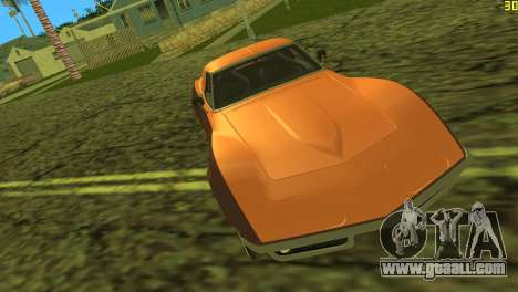 Chevrolet Corvette C3 Tuning for GTA Vice City upper view