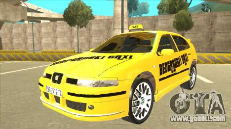 Seat Leon Belgrade Taxi for GTA San Andreas