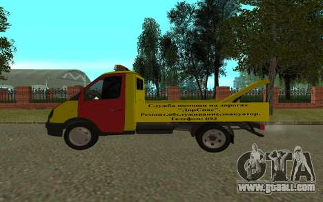 3302 Gazelle tow truck Business for GTA San Andreas back left view