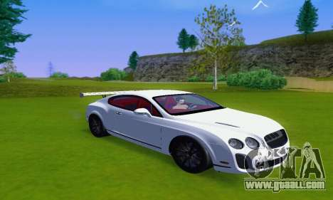 Bentley Continental Extremesports for GTA San Andreas back left view