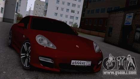Porsche Panamera for GTA San Andreas