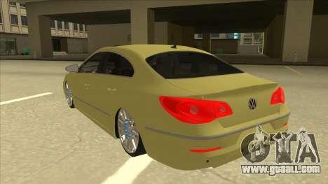 VW Passat CC for GTA San Andreas back view