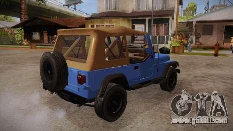 Jeep Wrangler V10 TT Black Revel for GTA San Andreas right view