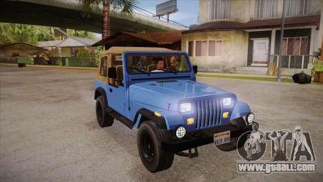 Jeep Wrangler V10 TT Black Revel for GTA San Andreas back view