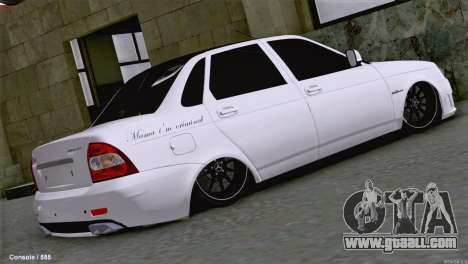Lada Priora AMG Version for GTA San Andreas back left view