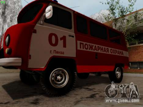 UAZ 452 Fire Staff Penza Russia for GTA San Andreas back left view