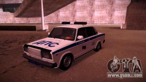 Vaz 2107 Police DPS for GTA San Andreas
