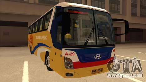 Yellow Bus Line A-29 for GTA San Andreas left view