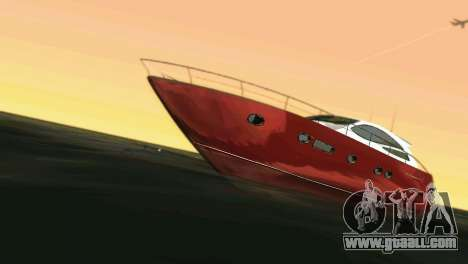 Cartagena Delight Luxury Yacht for GTA Vice City back left view