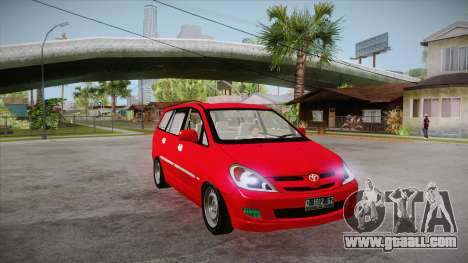Toyota Kijang Innova 2.0 G v3.0 Steel Rims for GTA San Andreas back view