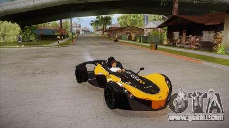 BAC Mono 2011 for GTA San Andreas side view
