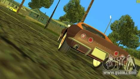 Chevrolet Corvette C3 Tuning for GTA Vice City back view