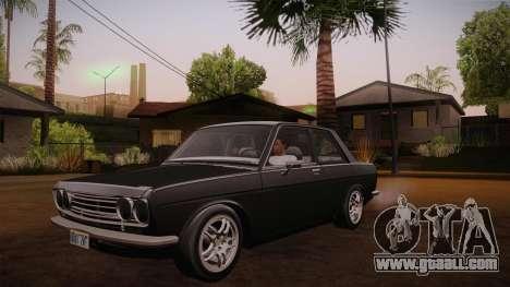 Datsun 510 RB26DETT Black Revel for GTA San Andreas inner view