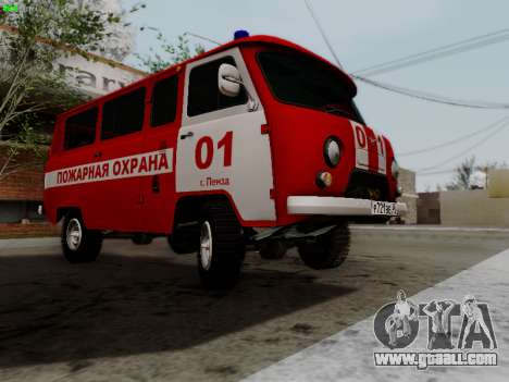 UAZ 452 Fire Staff Penza Russia for GTA San Andreas inner view
