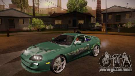 Toyota Supra TwinTurbo FNF 1997 for GTA San Andreas side view