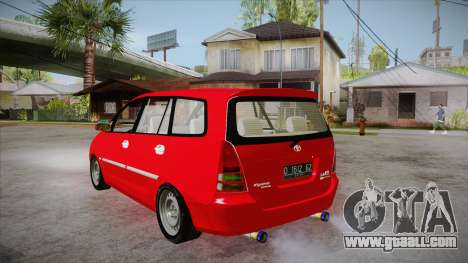 Toyota Kijang Innova 2.0 G v3.0 Steel Rims for GTA San Andreas back left view