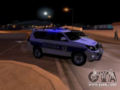 Toyota Land Cruiser POLICE for GTA San Andreas left view