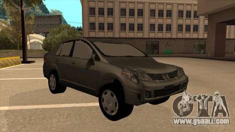 Nissan Tiida sedan for GTA San Andreas left view