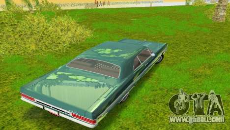 Plymouth Fury III 1969 Coupe for GTA Vice City upper view