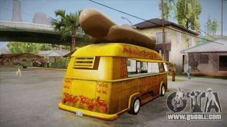 Hot Dog Van Custom for GTA San Andreas right view