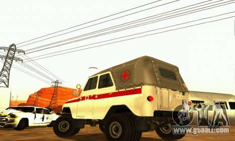 UAZ 469 Ambulance for GTA San Andreas back left view