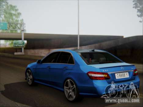 Mercedes-Benz E63 AMG 2010 for GTA San Andreas upper view