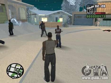 Switching between characters as in GTA V for GTA San Andreas sixth screenshot