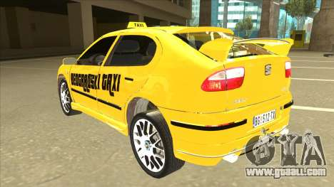 Seat Leon Belgrade Taxi for GTA San Andreas back view