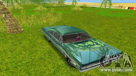 Plymouth Fury III 1969 Coupe for GTA Vice City right view