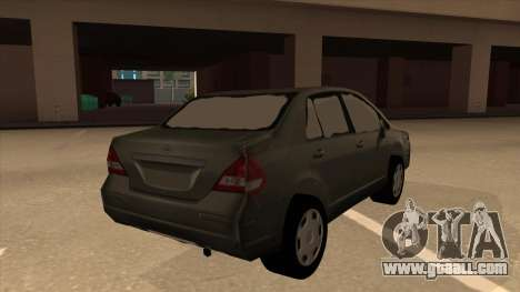 Nissan Tiida sedan for GTA San Andreas right view