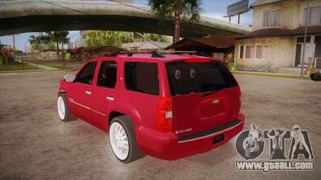 Chevrolet Tahoe LTZ 2013 Custom for GTA San Andreas back left view