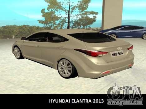 Hyundai Elantra 2013 for GTA San Andreas left view