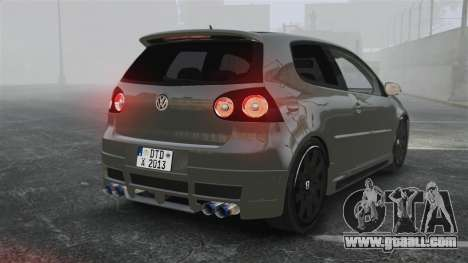 Volkswagen Golf GTi DT-Designs for GTA 4 back left view