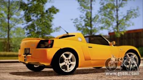 Opel Speedster Turbo 2004 for GTA San Andreas interior