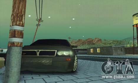 Lancia Delta HF Integrale for GTA San Andreas bottom view