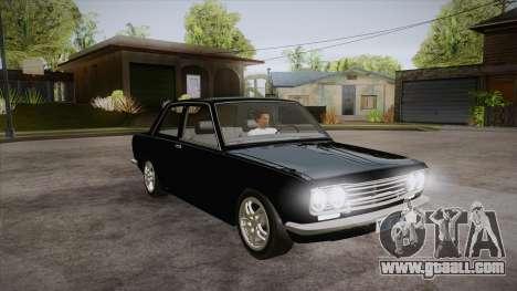 Datsun 510 RB26DETT Black Revel for GTA San Andreas back view