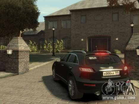 Infiniti FX45 2008 for GTA 4 right view