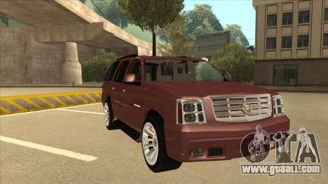 Cadillac Escalade 2002 for GTA San Andreas left view