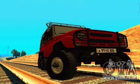 UAZ 31514 6 x 6 for GTA San Andreas back view