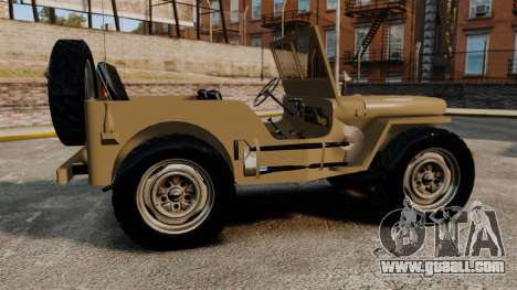 Willys MB for GTA 4 left view