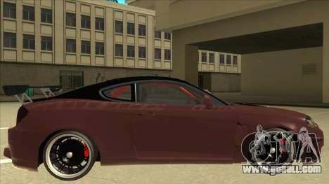 Hyundai Tiburon Coupe Tuning for GTA San Andreas back left view