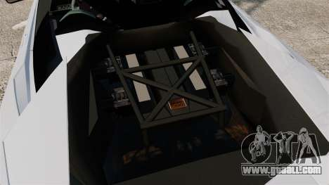 Lamborghini Reventon Roadster 2009 for GTA 4 inner view