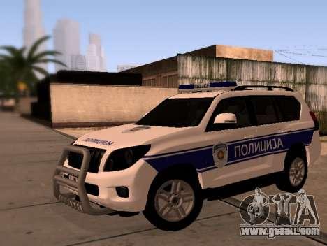 Toyota Land Cruiser POLICE for GTA San Andreas