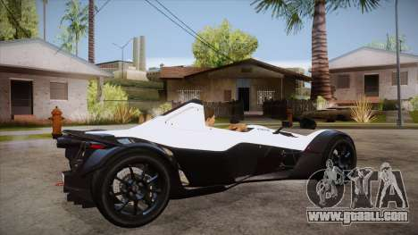 BAC Mono 2011 for GTA San Andreas right view
