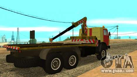KAMAZ 43114 tow truck for GTA San Andreas back left view