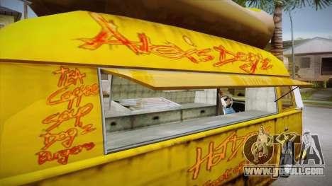 Hot Dog Van Custom for GTA San Andreas side view